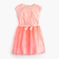 Girls' layered tulle dress