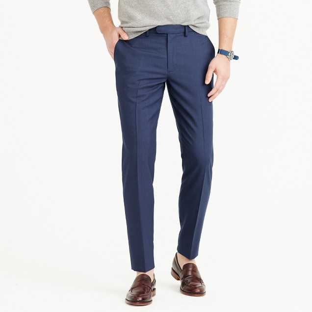 Bowery slim pant in Italian four-season wool