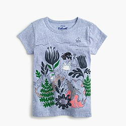 Girls' sparkly mermaid Olive and Izzy T-shirt