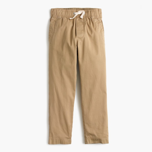 Boys' stretch lightweight chino pull-on pant with reinforced knees