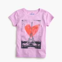 Girls' Eiffel Tower heart T-shirt