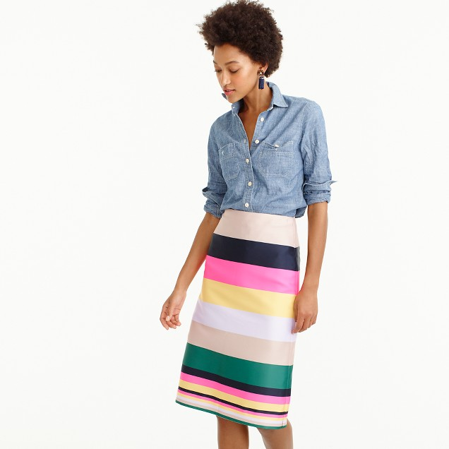 Pop-stripe skirt