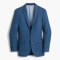 Ludlow linen blazer in brilliant blue