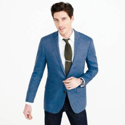 Ludlow Italian linen blazer in brilliant blue