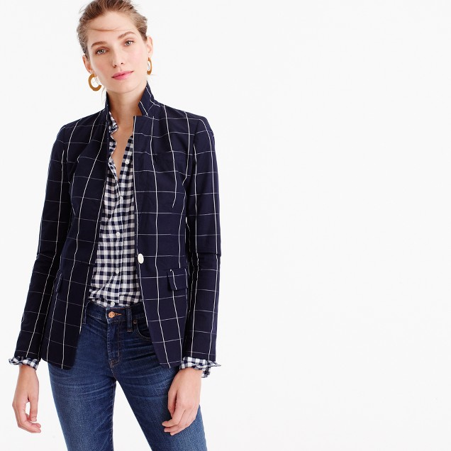 Regent blazer in windowpane print