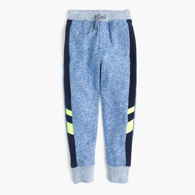 Boys' racing-stripe sweatpant in slim-slouchy fit