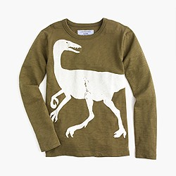 Boys' long-sleeve glow-in-the-dark dino T-shirt