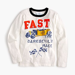 "Boys' long-sleeve ""fast"" T-shirt"
