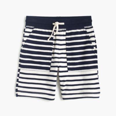 Boys' sweatshort in mash-up stripes