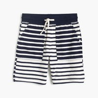 Boys' sweatshort in mash-up stripes