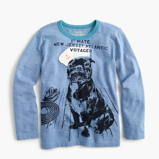 Boys' long-sleeve sailor pup T-shirt