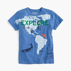 "Boys' ""explore"" T-shirt"