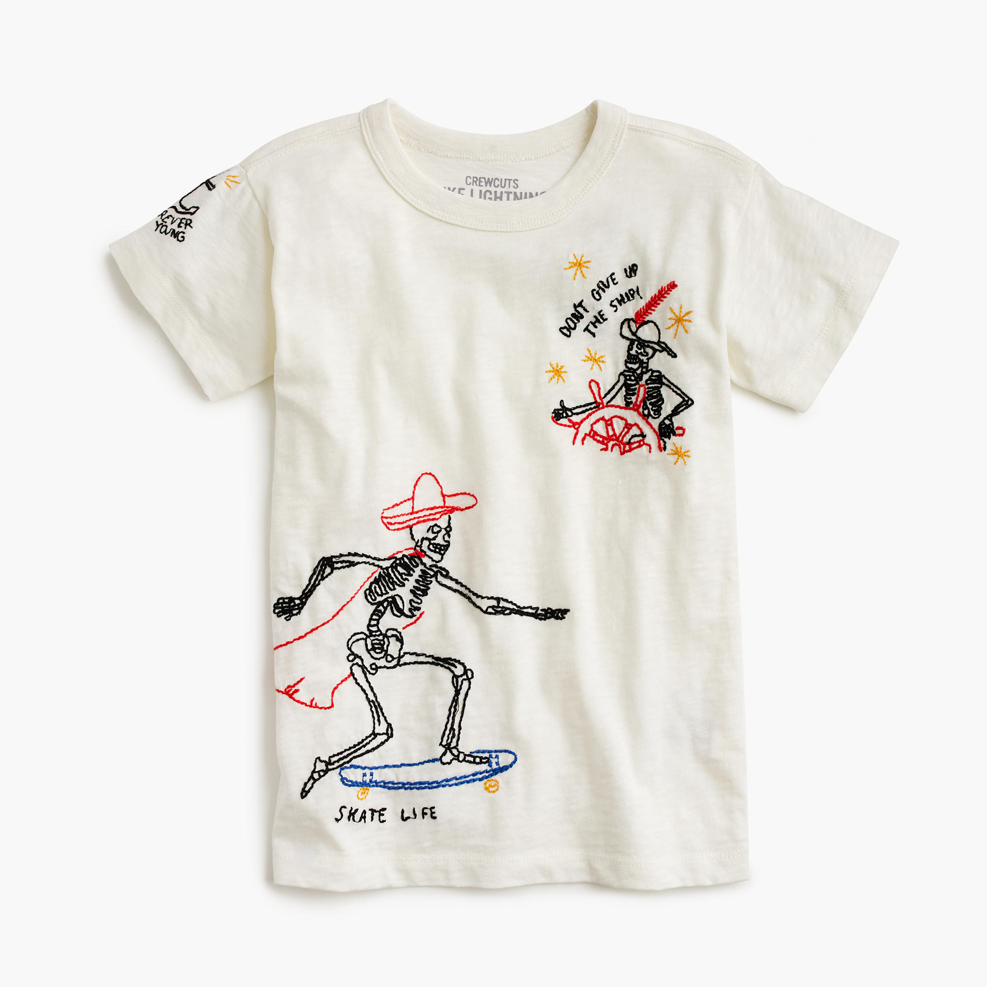 Boys tattoo embroidery t shirt tees j crew