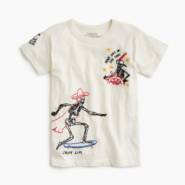Boys' tattoo embroidery T-shirt
