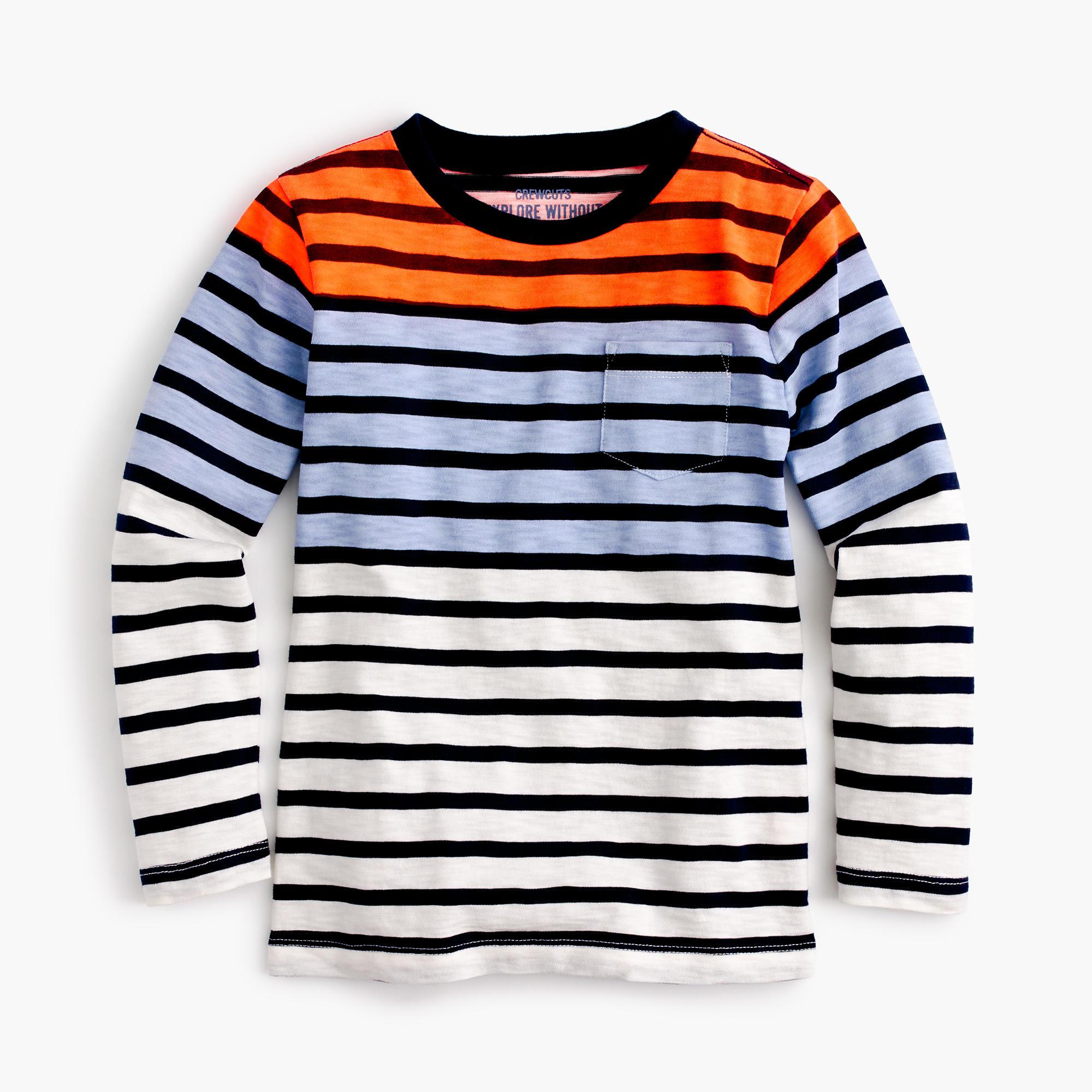 Boys 39 Long Sleeve Colorblock Striped T Shirt Boys 39 Tees