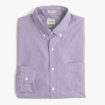 Slim Secret Wash shirt in microgingham