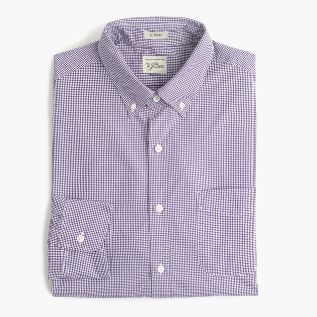 Secret Wash shirt in microgingham