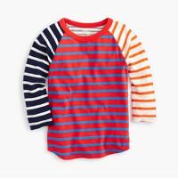Boys' three-quarter sleeve baseball T-shirt in mash-up