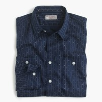 Albiate 1830 for J.Crew Wallace & Barnes shirt in lightweight indigo-dyed cotton