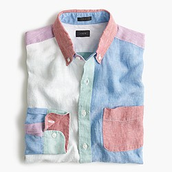 Linen cocktail shirt