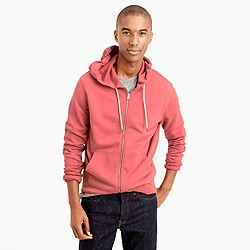 French terry full-zip hoodie