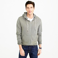 French terry full-zip hoodie