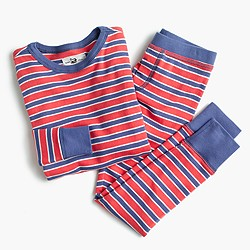 Boys' pajama set in classic stripes