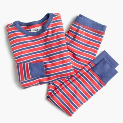 Boys' pajama set in classic stripes
