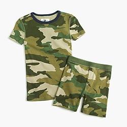 Boys' short-sleeve pajama set in camo