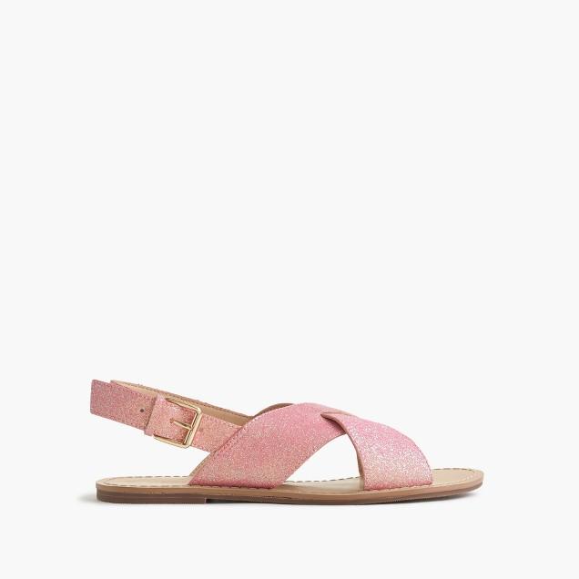 Girls' glitter Cyprus sandals