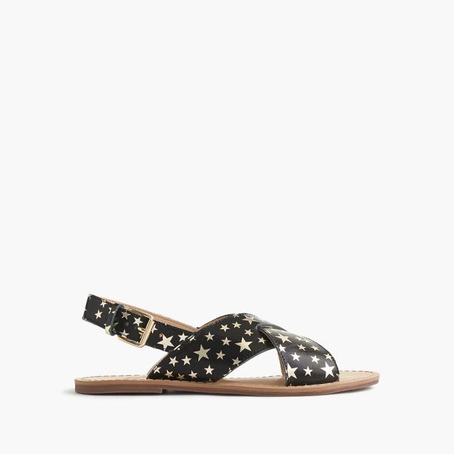 Girls' star-print Cyprus sandals