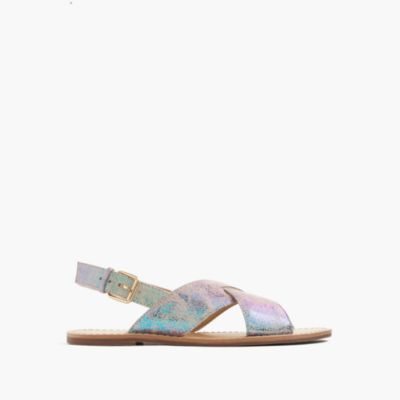 Girls' iridescent Cyprus sandals