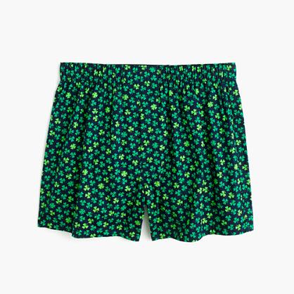 Clover print boxers