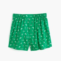 Dog print boxers in green