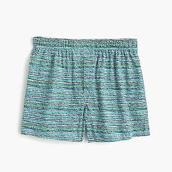 Wave print boxers