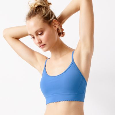 New Balance® for J.Crew scalloped performance sports bra
