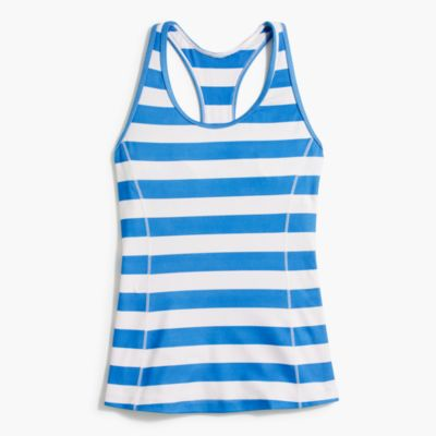 New Balance® for J.Crew striped tank top with built-in sports bra