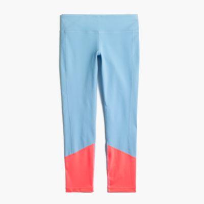 Colorblock premium performance capri leggings