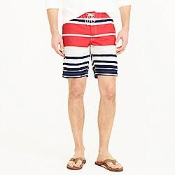 "Pre-order 9"" board short in nautical stripe"