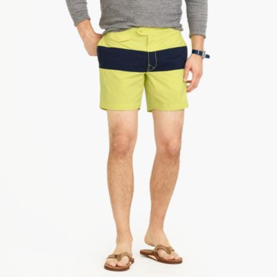 "6.5"" tab swim short in colorblock"