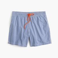 "6"" swim trunk in maze print"