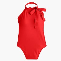 Halter bow-tie one-piece swimsuit
