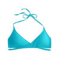Wrap-front halter bikini top