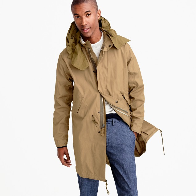Wallace & Barnes fishtail parka with wire hood