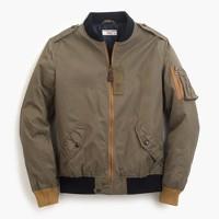 Wallace & Barnes MA-1 contrast bomber jacket