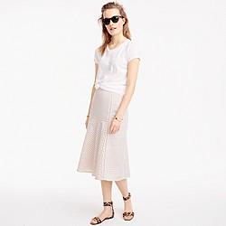 Petite fluted skirt in geometric eyelet