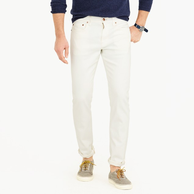 484 slim stretch jean in white
