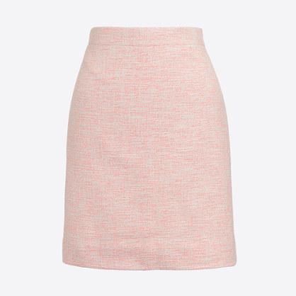 Shimmery tweed mini skirt