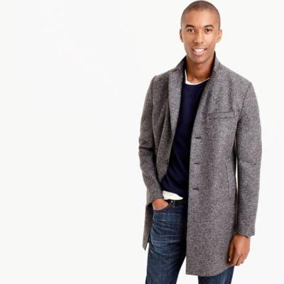 Harris Wharf London™ topcoat in pressed wool