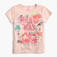"Girls' ""Mexico"" destination art T-shirt"